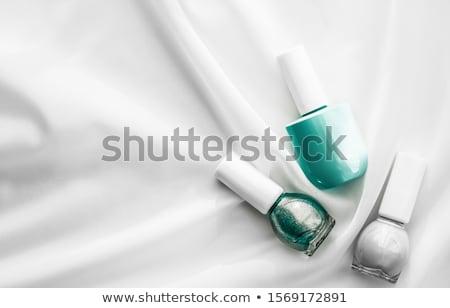 garrafas · unha · polonês · branco · grupo · brilhante · prego - foto stock © anneleven