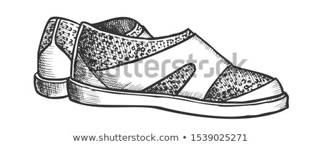 Shoes For Aqua Sport And Diving Monochrome Vector Stock photo © pikepicture