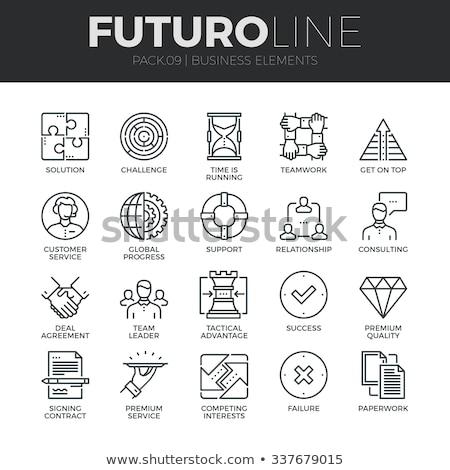 Contract Collection Elements Icons Set Vector Stock photo © pikepicture