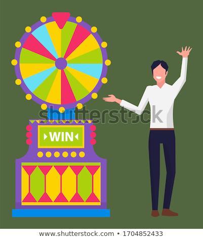 jogos · de · azar · vetor · estilo · ilustração · fichas · dados - foto stock © robuart