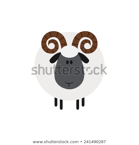 Cute Ram Sheep.Modern Flat Design  Stock photo © hittoon