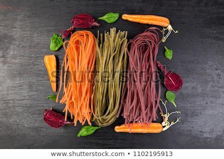 Colored Raw Vegetable Vegetarian Pasta  Stock photo © Illia