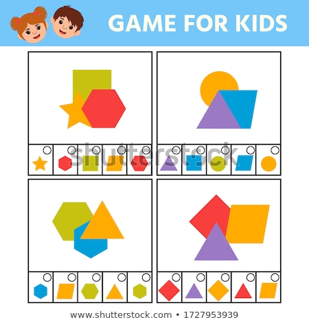 Dreieck Form pädagogisch Aufgabe Kinder Ausmalbuch Stock foto © izakowski