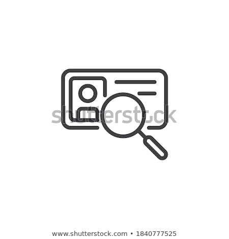 Information About Person When Scanning Icon Vector Outline Illustration Stock photo © pikepicture
