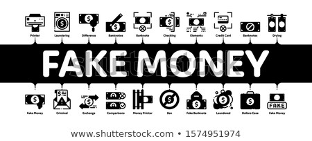 Fake Money Minimal Infographic Banner Vector Stock photo © pikepicture