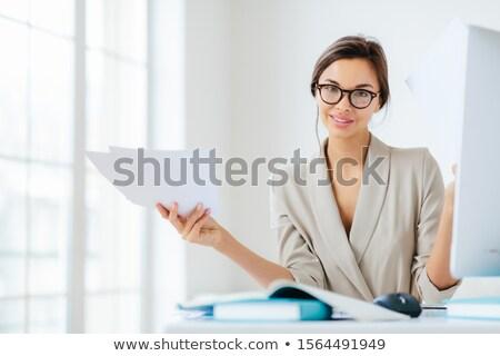Tiro guapo femenino traje Foto stock © vkstudio