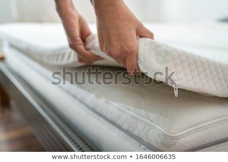 マットレス 先頭 ベッド 男 ルーム 家具 ストックフォト © AndreyPopov