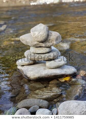 Yerli kaya dere su arka plan Stok fotoğraf © galitskaya