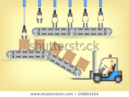 Forklift and tin can stock photo © Clivia