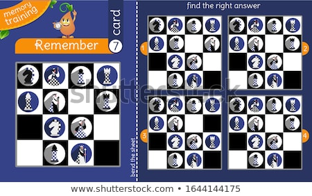 find the right answer memory chessmen Stock photo © Olena