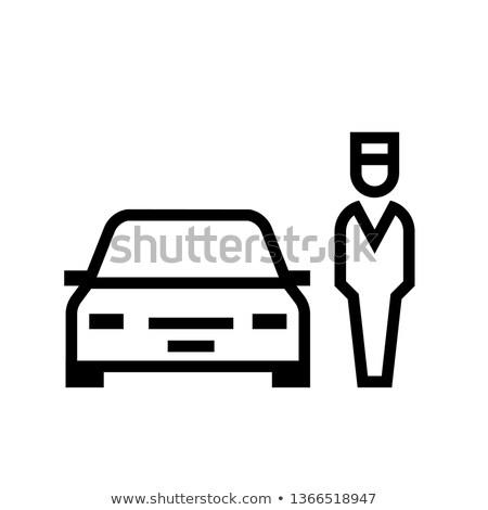Pokryty parking ikona wektora ilustracja Zdjęcia stock © pikepicture
