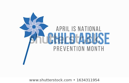 National Child Abuse Prevention Month. Vector illustration with blue ribbon Stock photo © m_pavlov