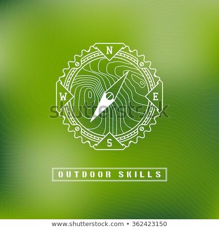 зеленый компас икона высокий разрешение белый Сток-фото © kbuntu