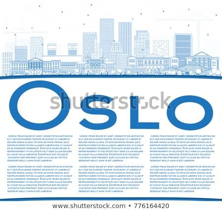 オスロ スカイライン 青 建物 コピースペース ストックフォト © ShustrikS