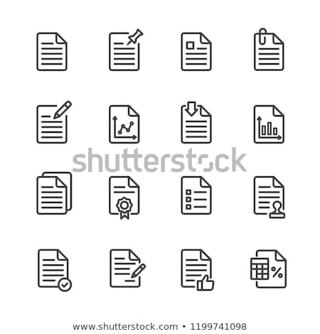 signature paper icon vector outline illustration Stock photo © pikepicture
