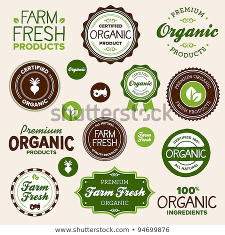 Vector round retro vintage stamp for organic product Stock photo © orson
