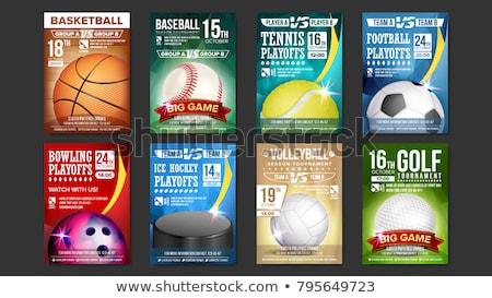 Basquetebol esportes campeão copo aviador cartaz Foto stock © pikepicture