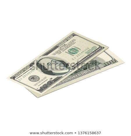 Een honderd USA dollar bankbiljet Maakt een reservekopie Stockfoto © evgeny89