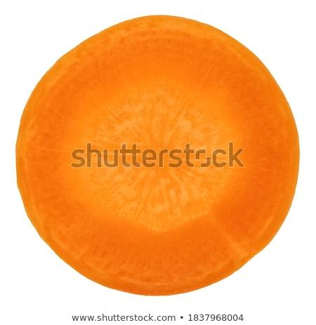 Stock photo: cutting carrots