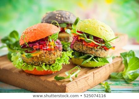 Fresco saudável vegetariano legumes salada alface Foto stock © DenisMArt