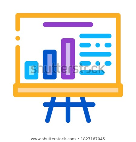 Optimalizálás tanulás diagram diagram ikon vektor Stock fotó © pikepicture