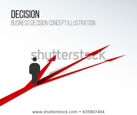 Yol rota seçim vektör mecaz yol Stok fotoğraf © RAStudio