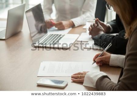 Africaine avocat juridiques affaires document accord Photo stock © AndreyPopov