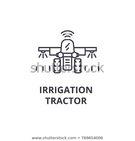 crop spraying icon vector outline illustration Stock photo © pikepicture