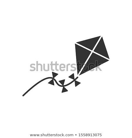 children kite icon vector outline illustration Stock photo © pikepicture