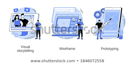 Web pagina vettore metafora protocollo Foto d'archivio © RAStudio