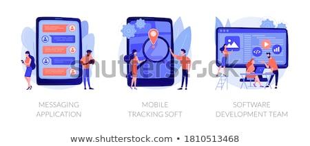 GPS применение вектора метафора пути Сток-фото © RAStudio