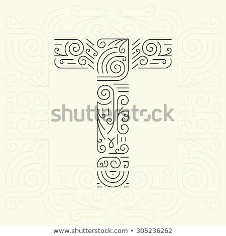 логотип монограмма роскошь стиль Сток-фото © SArts