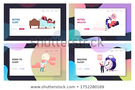 Night snoring concept landing page. Stock photo © RAStudio
