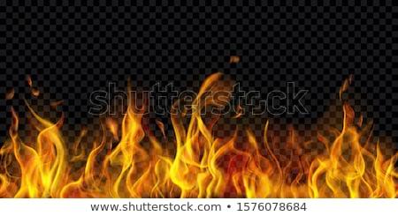 Stockfoto: Vlammen · Blauw · zwarte · abstract · licht · ontwerp