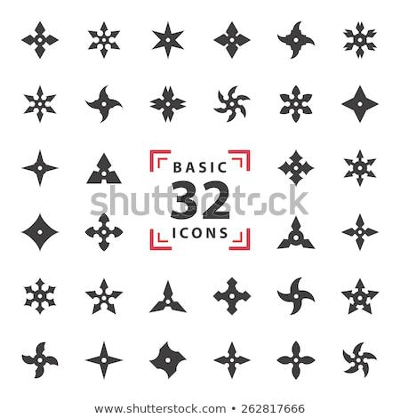 estrellas · cuchillo · acero · japonés · dragón · sombra - foto stock © milmirko