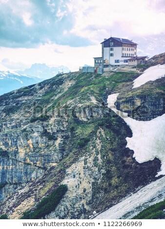 夏 霧の 岩 イタリア語 山 表示 ストックフォト © wildman