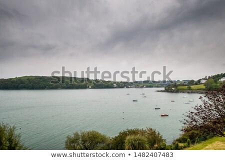 tekneler · köy · batı · sahil · İrlanda · yaz - stok fotoğraf © morrbyte