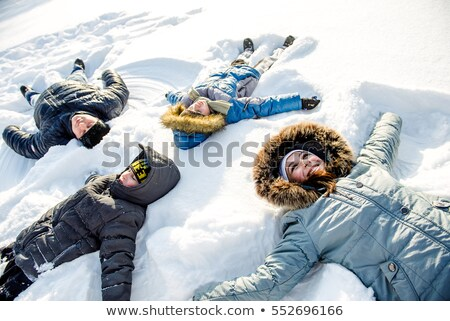 mother and child on snowdrift stock photo © paha_l