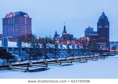 hiver · temps · art · musée · centre-ville - photo stock © benkrut