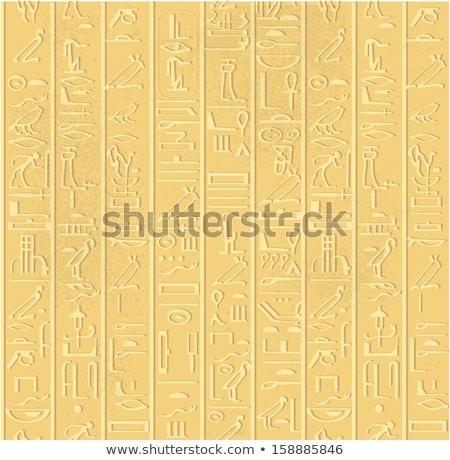piramisok · sivatag · teve · égbolt · nap · naplemente - stock fotó © lypnyk2
