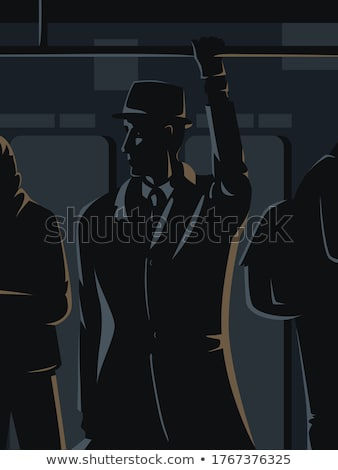 Silhouette fille espace fusil personnel Photo stock © coolgraphic