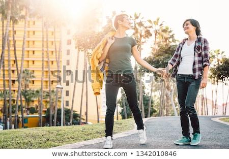Сток-фото: бисексуал · женщину · любви · два · женщины
