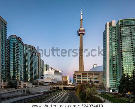 башни Торонто глубокий Blue Sky небе синий Сток-фото © elenaphoto