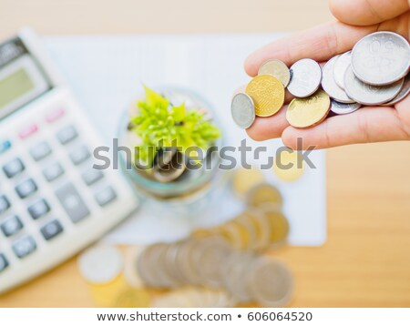 Abstract background with a money and calculator  Stock photo © olgaaltunina