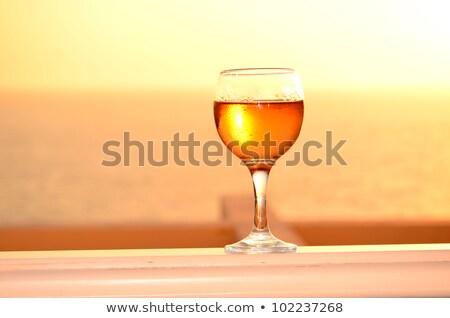 Stock photo: Rose wiine glass