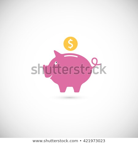 Pink piggy with clip stock photo © stockfrank