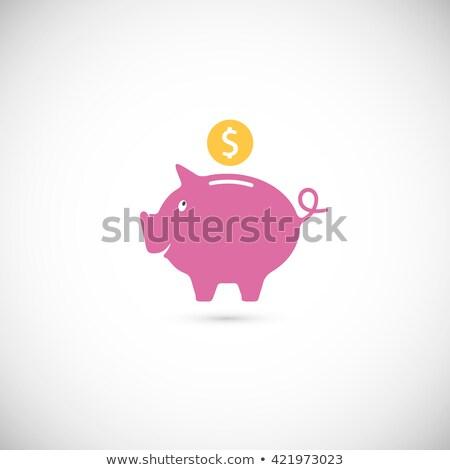 розовый клипа доллара законопроект Сток-фото © stockfrank
