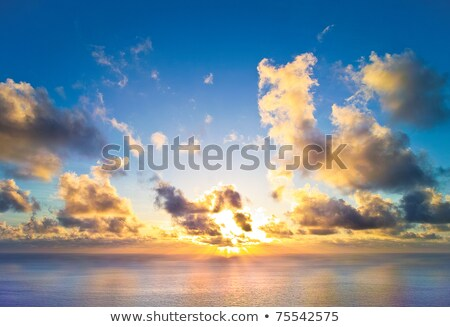 Rising sun on gold sands Stock photo © jsnover