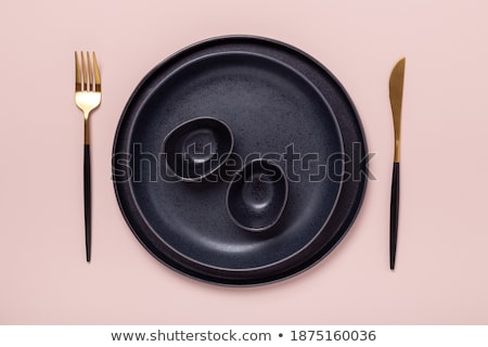 Empty copy space circle in set of forks Stock photo © designsstock