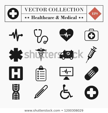 Orvosi ikonok szimbólumok egészségügy internet háló Stock fotó © hugolacasse